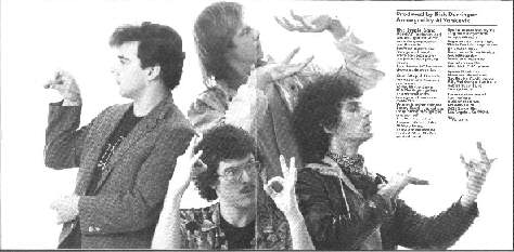 The Stupid Band picture from inside the CBS CD insert